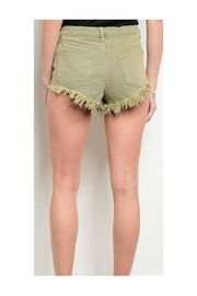 Rousseau Olive Shorts - Front full body