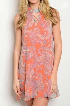 Shoptiques Product: Orange Paisley Dress