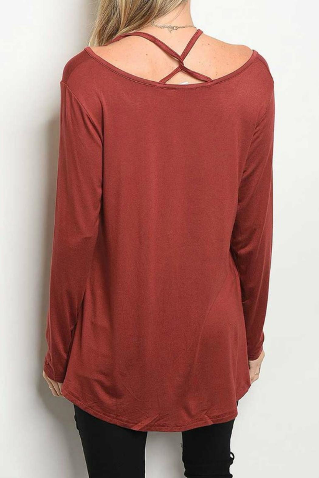 LoveRiche Strappy Detail Top - Front Full Image
