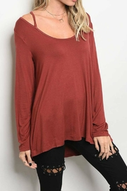 LoveRiche Strappy Detail Top - Front cropped