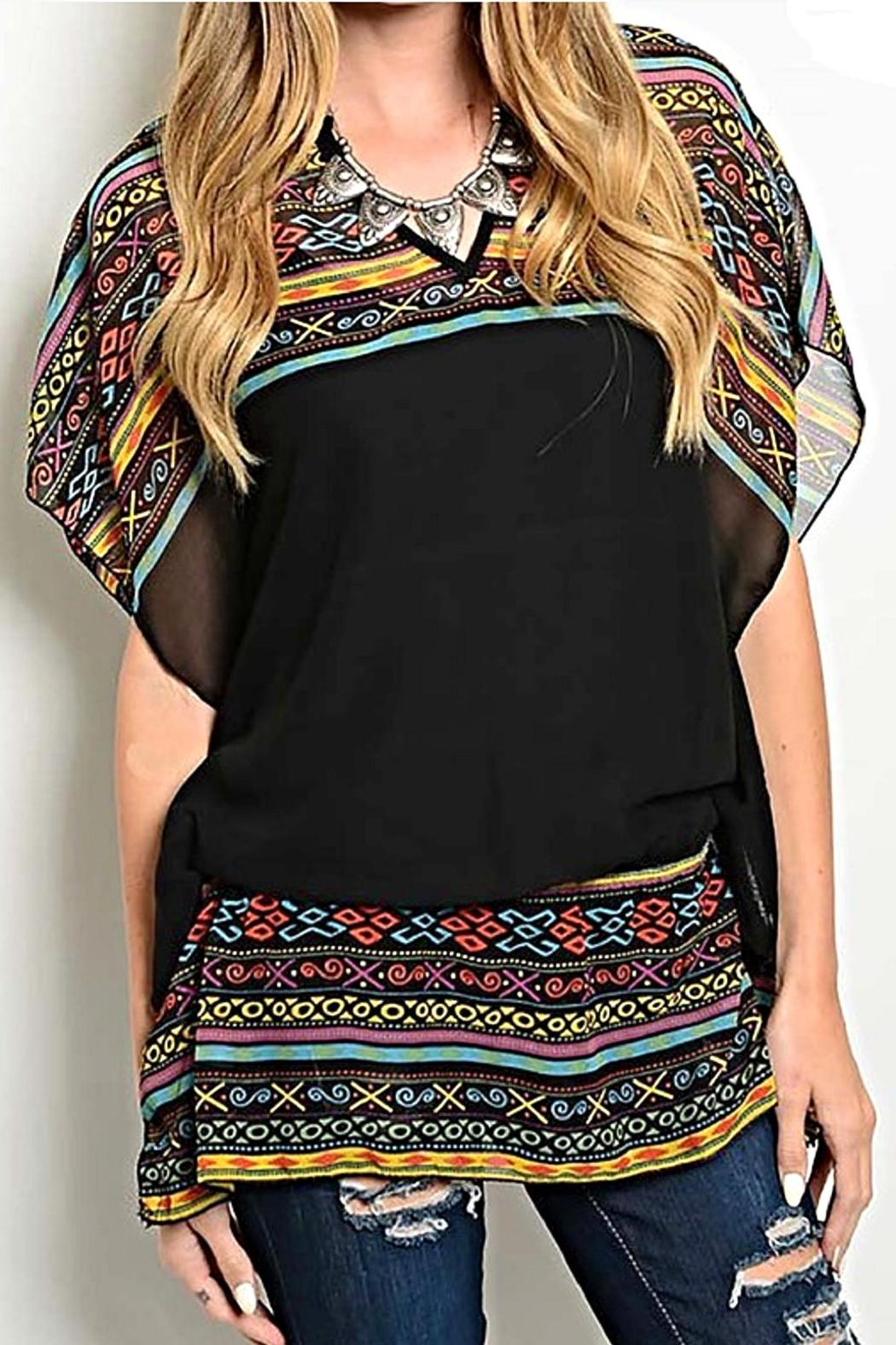 Rousseau Tribal Print Blouse - Main Image