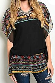 Rousseau Tribal Print Blouse - Product Mini Image