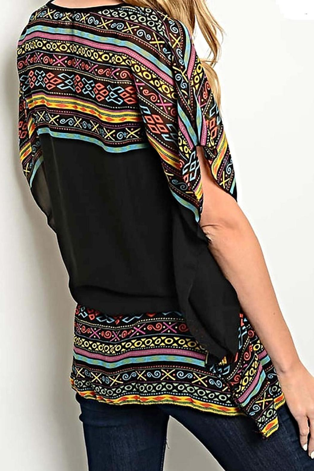 Rousseau Tribal Print Blouse - Side Cropped Image
