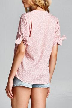Route 3 Floral-Printed Chambray Top - Alternate List Image