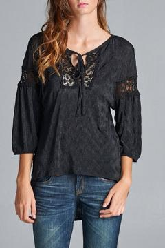 Route 3 Textured High-Low Hem Top - Product List Image