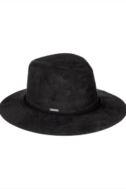 Roxy Black Faux-Leather Hat - Front cropped