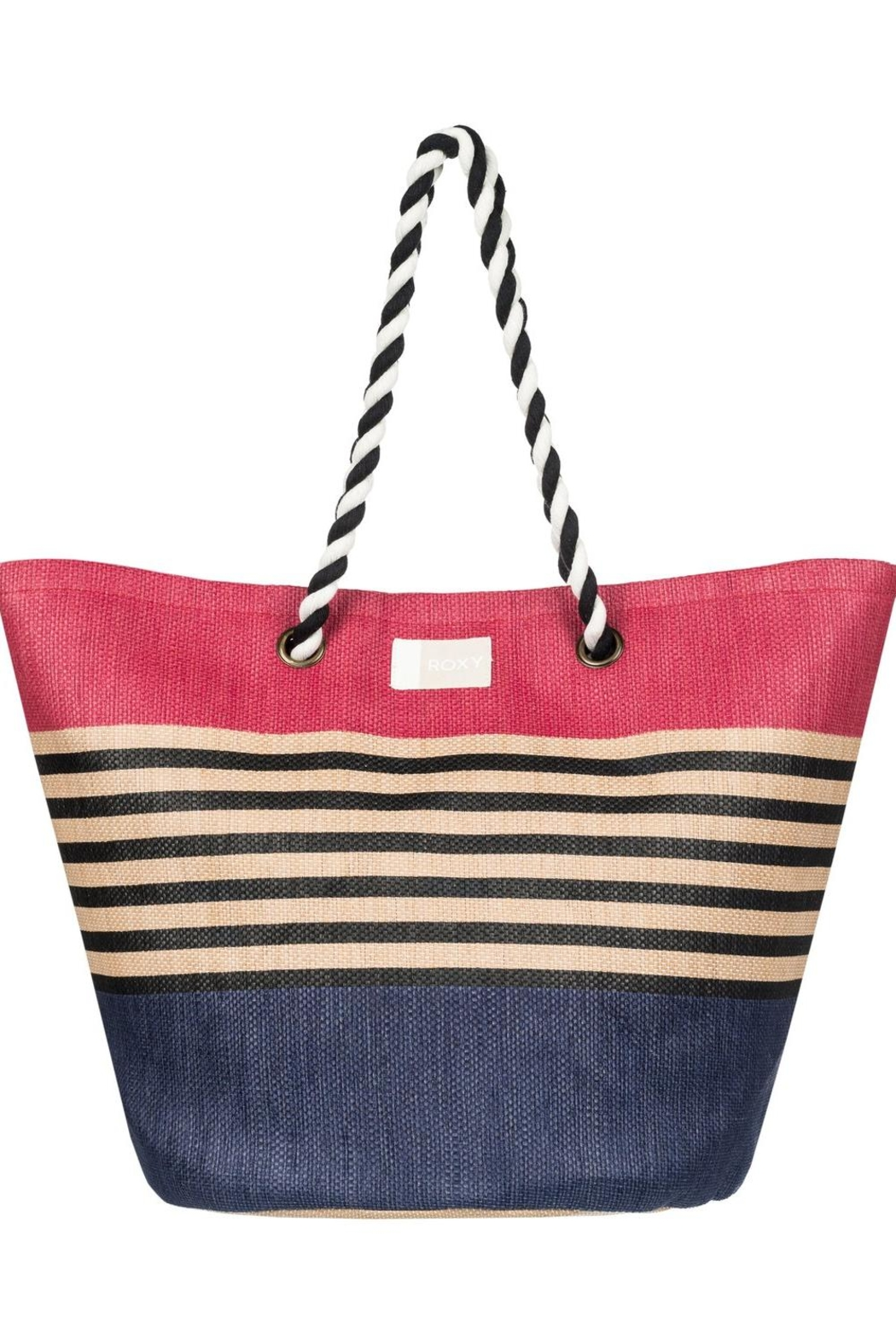 Roxy Color-Block Beach Tote - Front Cropped Image