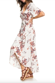 Roxy Floral Wrap Dress - Front cropped