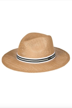 Shoptiques Product: Glitter-Trim Straw Hat