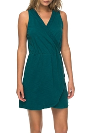 Roxy Green Tulip Dress - Front cropped