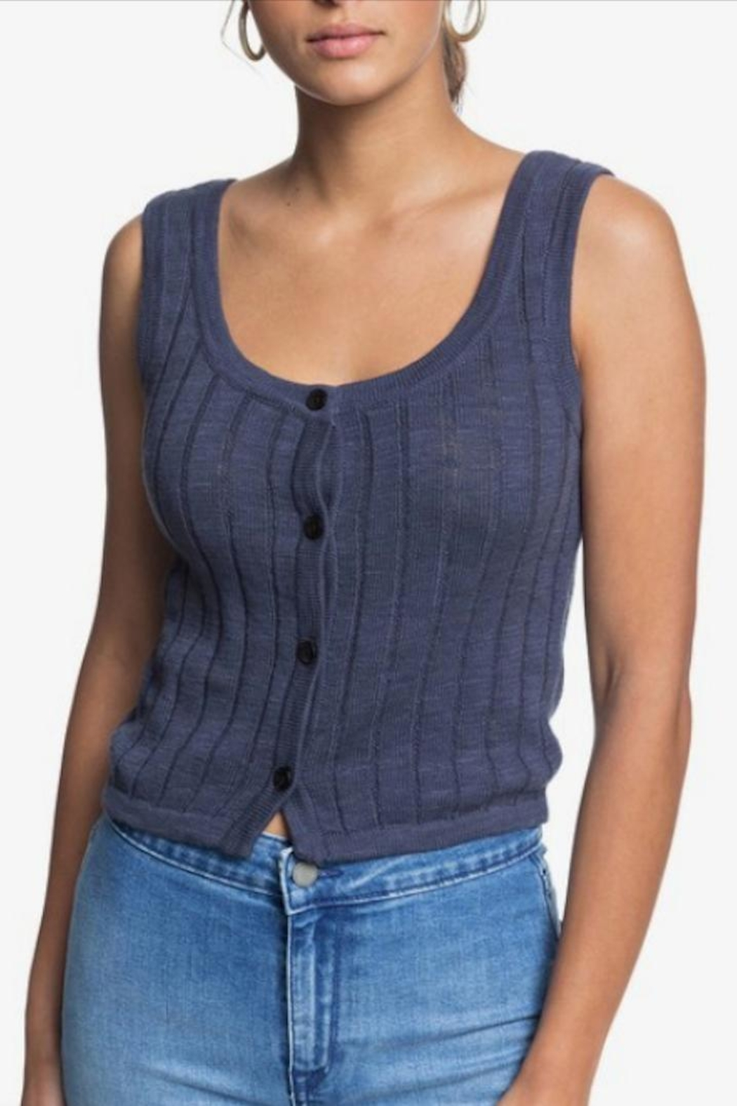 Roxy Knit Button-Front Tank - Main Image