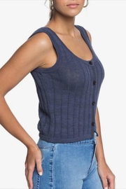 Roxy Knit Button-Front Tank - Front full body