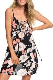 Roxy Lace-Up Floral Dress - Product Mini Image