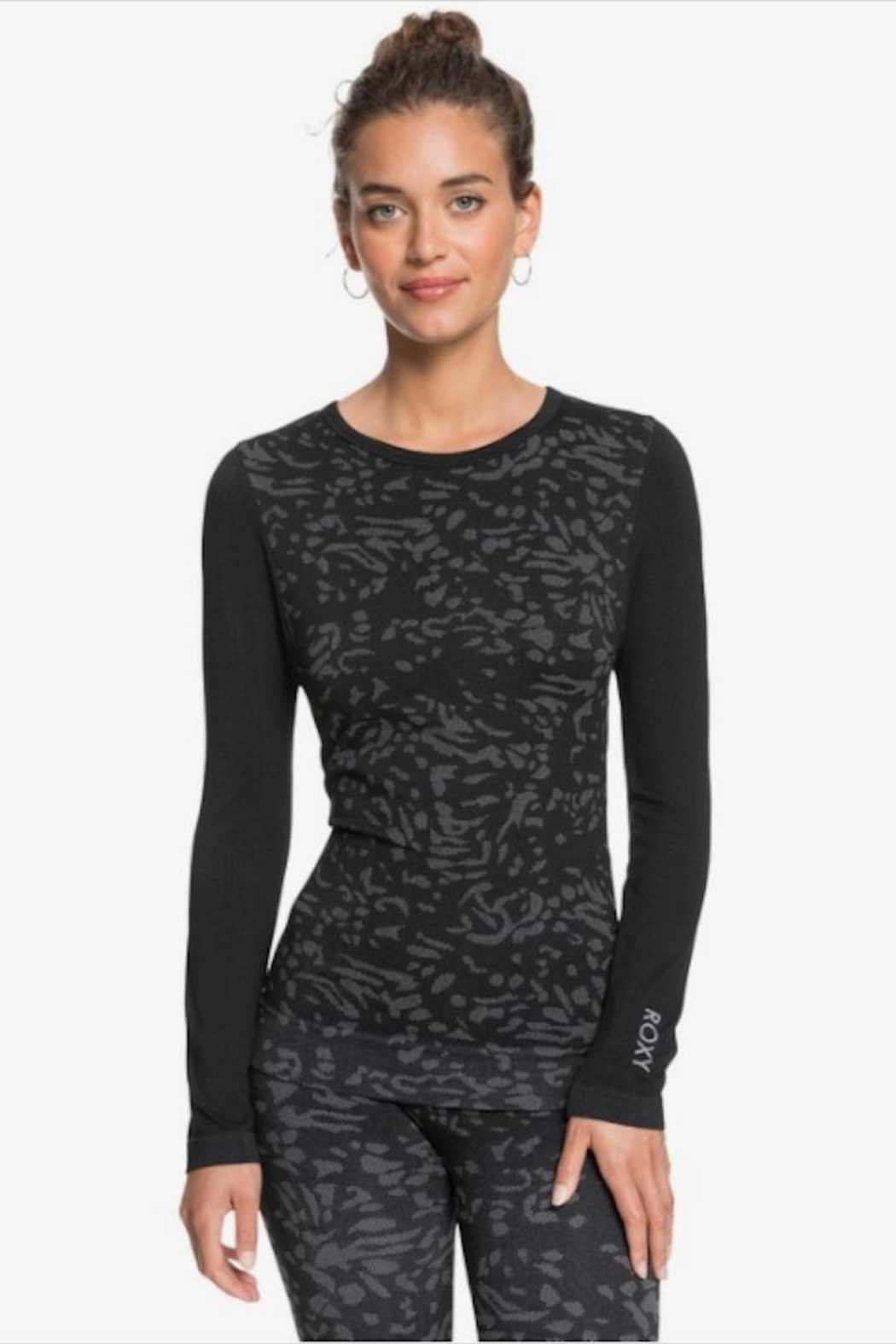 Roxy Longsleeve Printed Base-Layer - Front Cropped Image