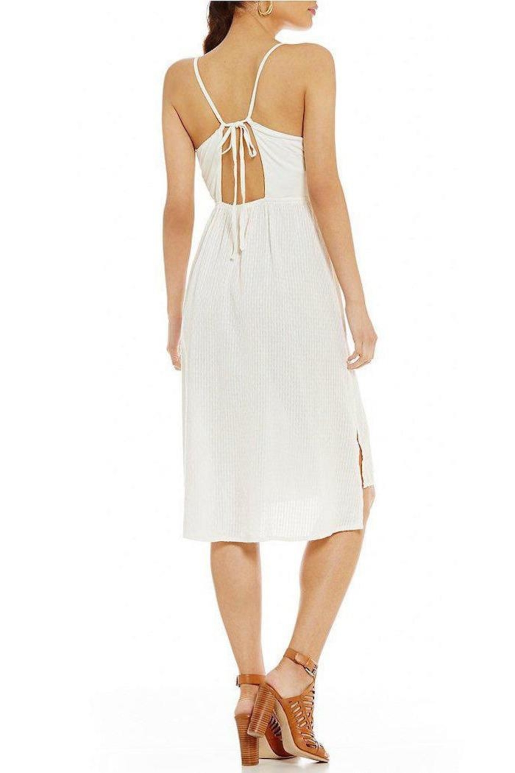 Roxy Resolutions White Dress - Side Cropped Image