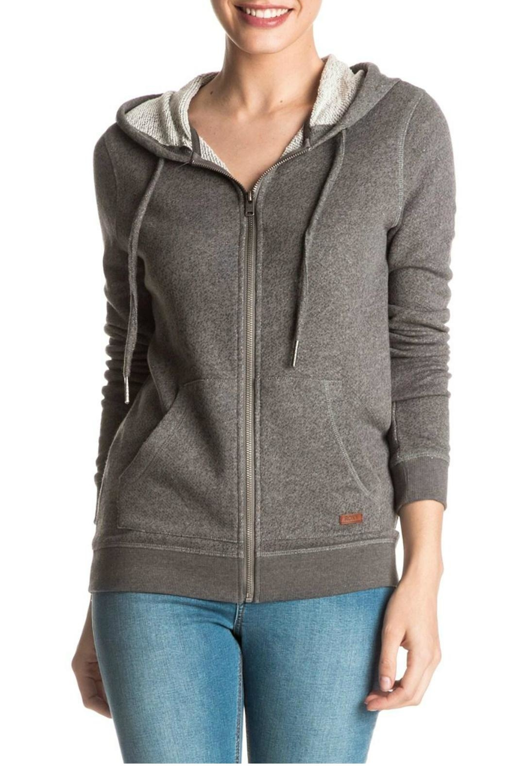 Roxy Signature Zip Hoodie - Front Cropped Image