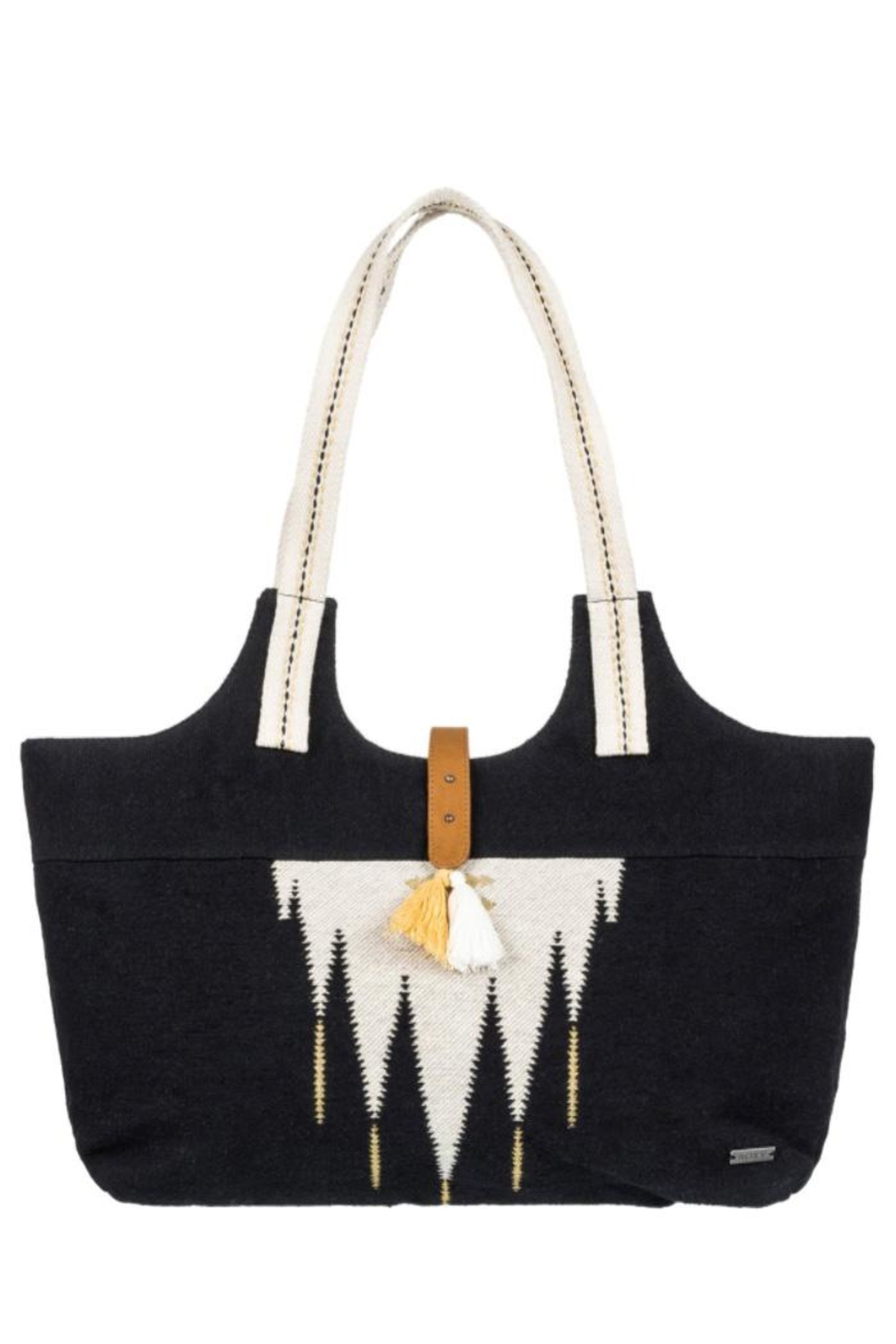 Roxy Southwestern Tassel Tote - Front Cropped Image