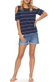 Roxy Striped Cold-Shoulder Top - Product Mini Image