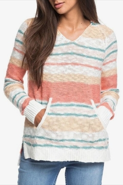 Shoptiques Product: Striped Hooded-Poncho Sweater