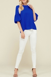 2 Hearts Bubble Sleeve Blouse - Product Mini Image