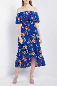 Soprano Royal-Blue Floral Maxi - Product List Image