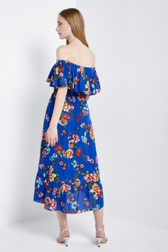 Soprano Royal-Blue Floral Maxi - Alternate List Image