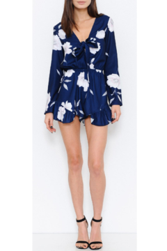 L'atiste Royal Blue Floral Romper - Product List Image