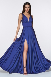 Cinderella Divine Royal Blue Satin Flowy Long Formal Dress - Product Mini Image