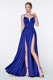 Cinderella Divine Royal Blue Satin Long Formal Dress - Product Mini Image