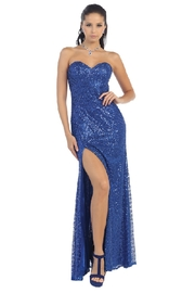 Mayqueen Royal Blue Sequin Long Dress - Product Mini Image