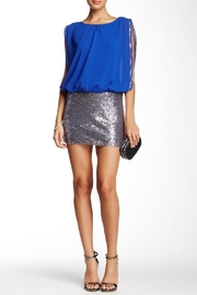 Esley Royal Blue/silver Sequin-Dress - Product Mini Image