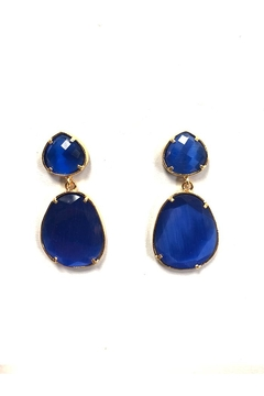Lets Accessorize Royal-Blue Stone Earrings - Alternate List Image