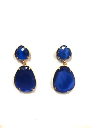 Lets Accessorize Royal-Blue Stone Earrings - Product Mini Image
