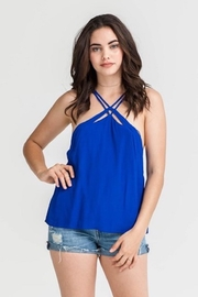 Lush Royal-Blue Strappy Top - Product Mini Image