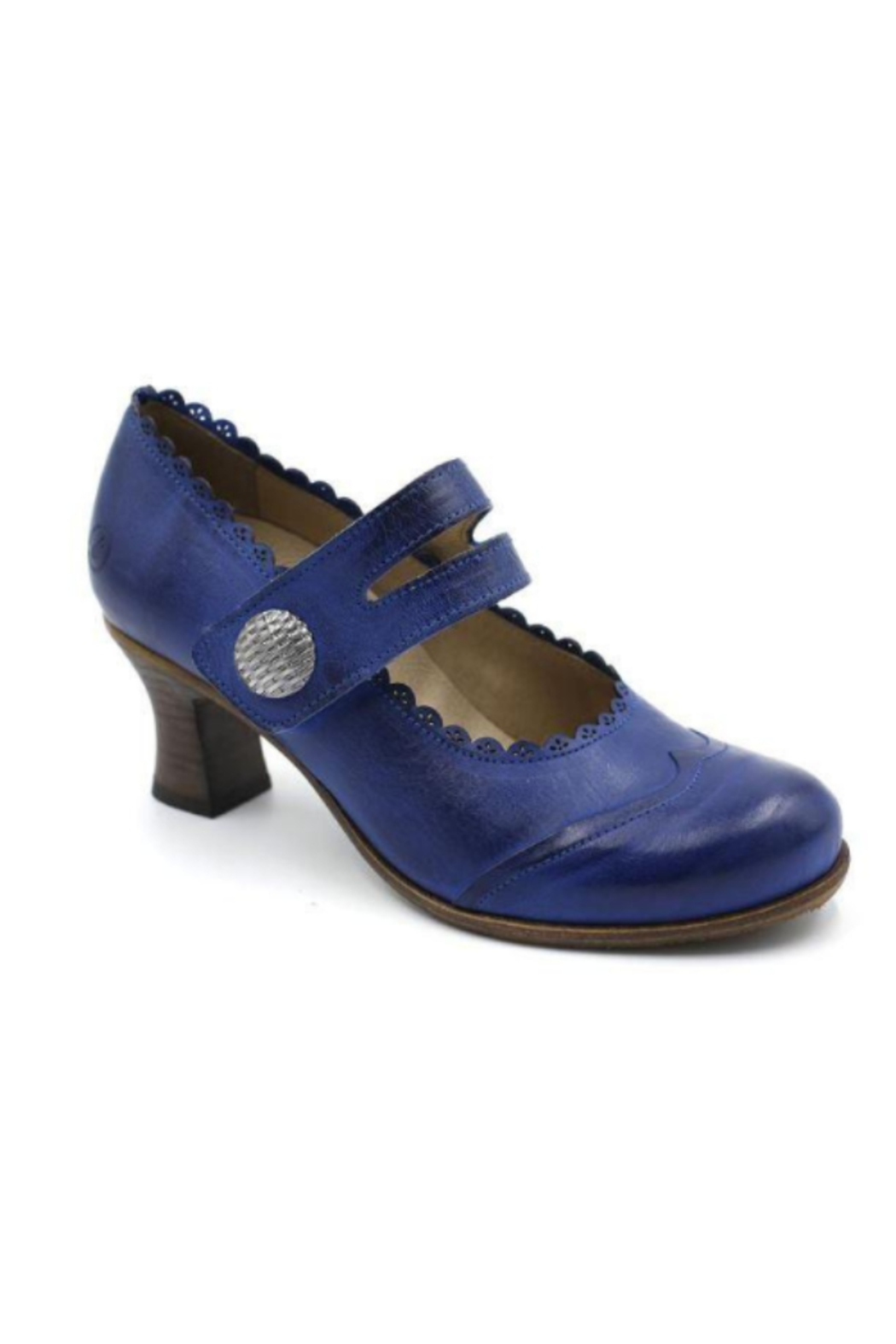 Casta Royal Blue Vintage Design Shoe - Main Image