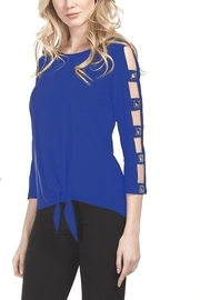 Frank Lyman Royal Cut Out Detail Cold Shoulder Top - Product Mini Image