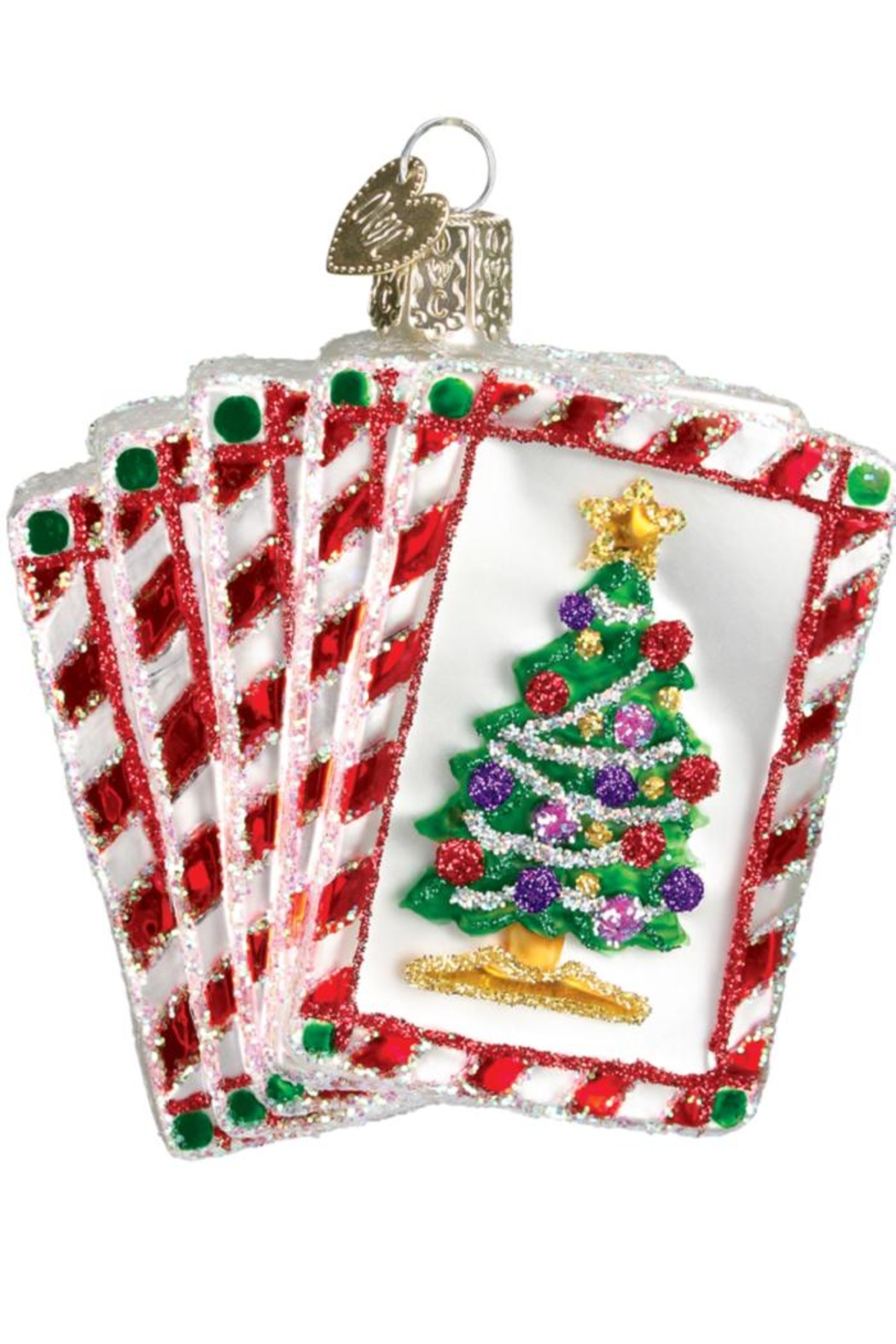 Old World Christmas Royal Flush Ornament - Front Full Image