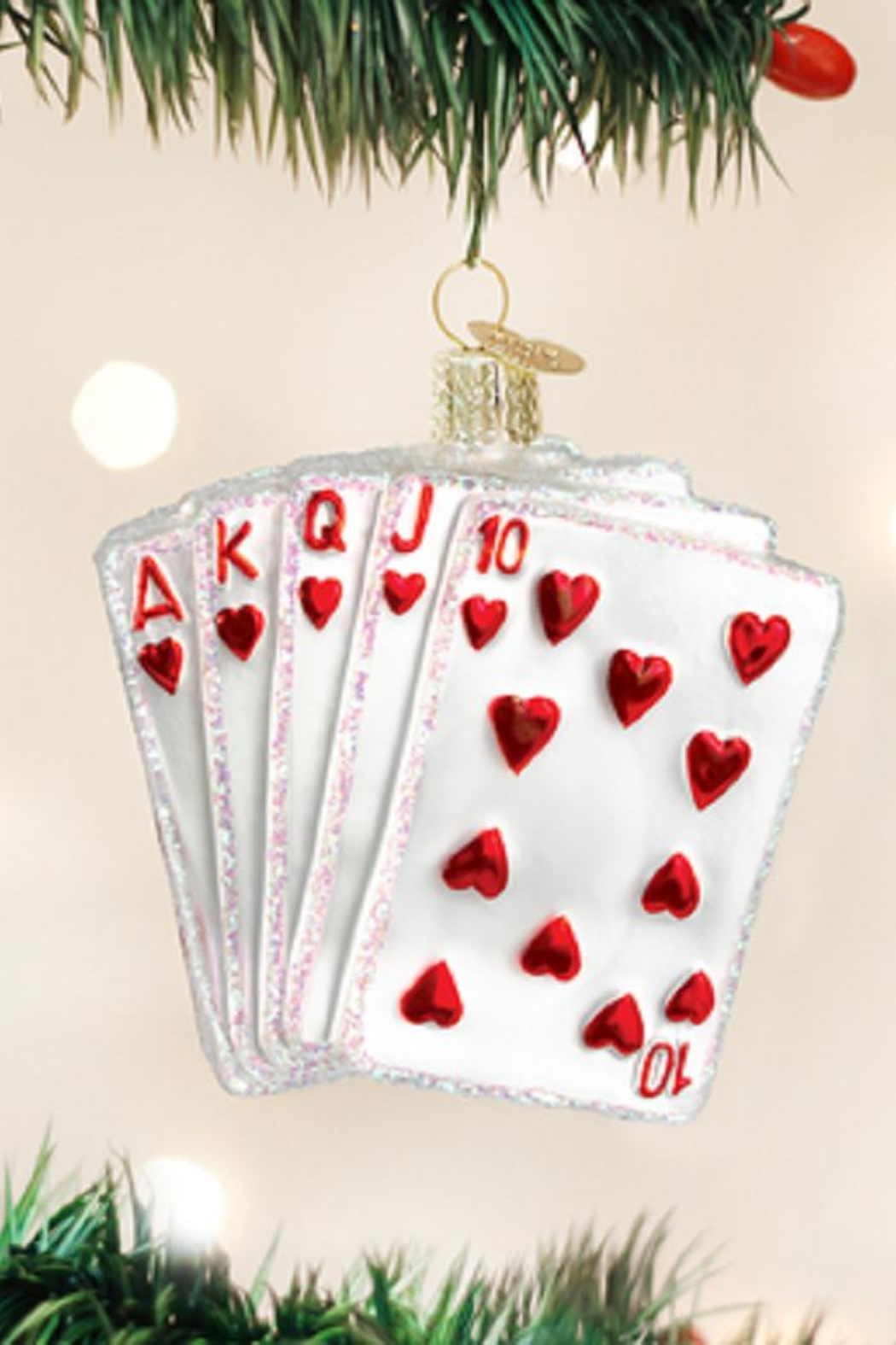 Old World Christmas Royal Flush Ornament - Main Image