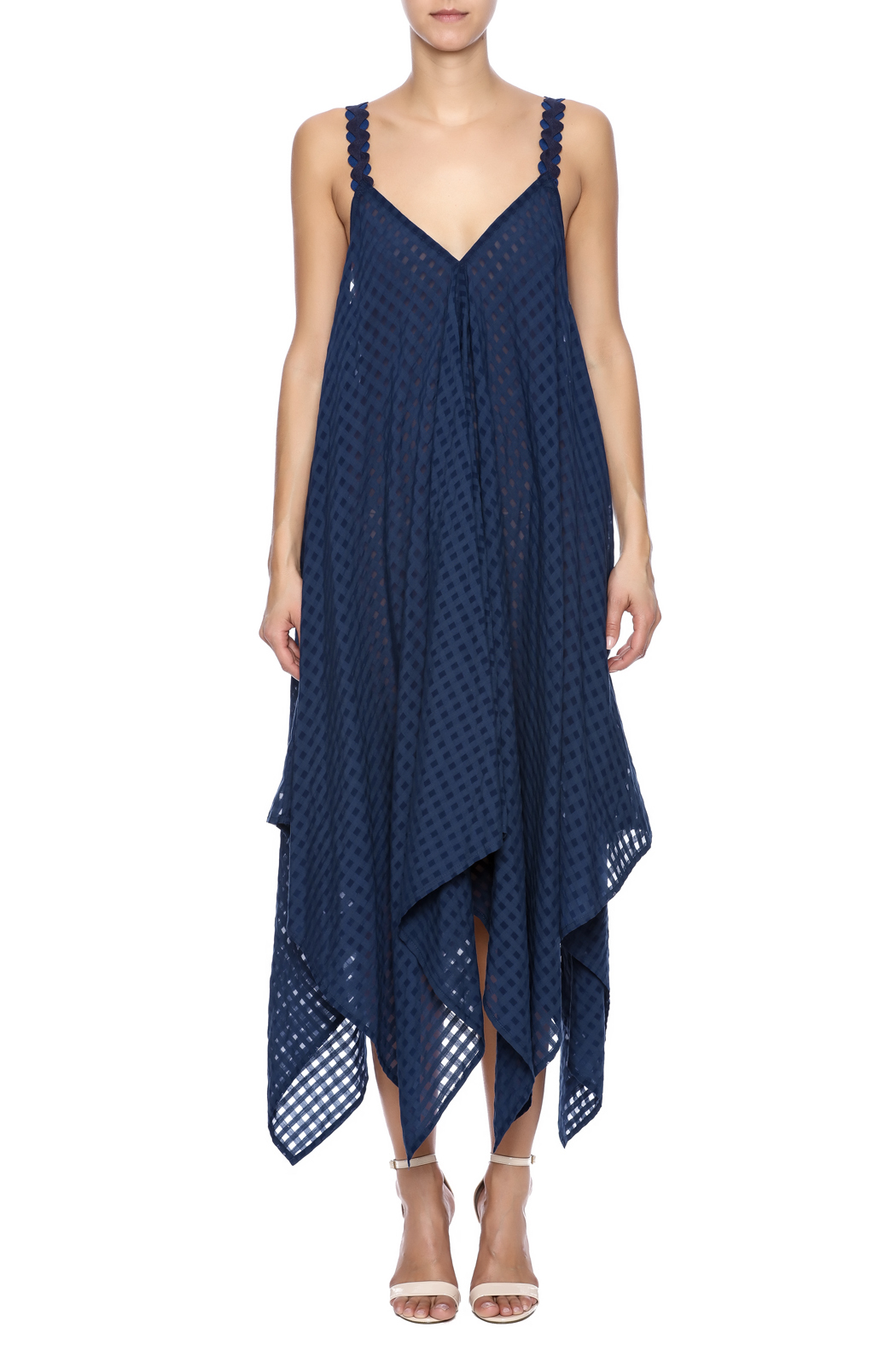 Royal Jelly Harlem Indigo Mimi Dress - Front Cropped Image