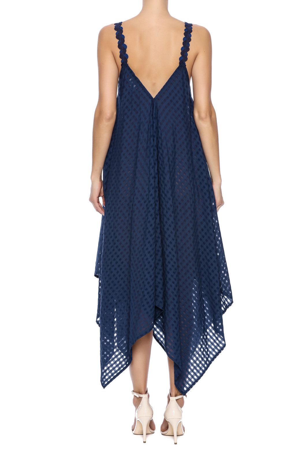 Royal Jelly Harlem Indigo Mimi Dress - Back Cropped Image