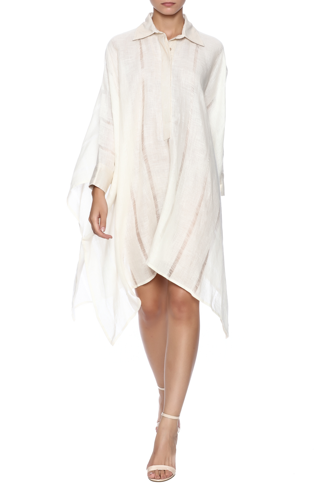 Royal Jelly Harlem Ivory Stripe Shirt Dress - Main Image
