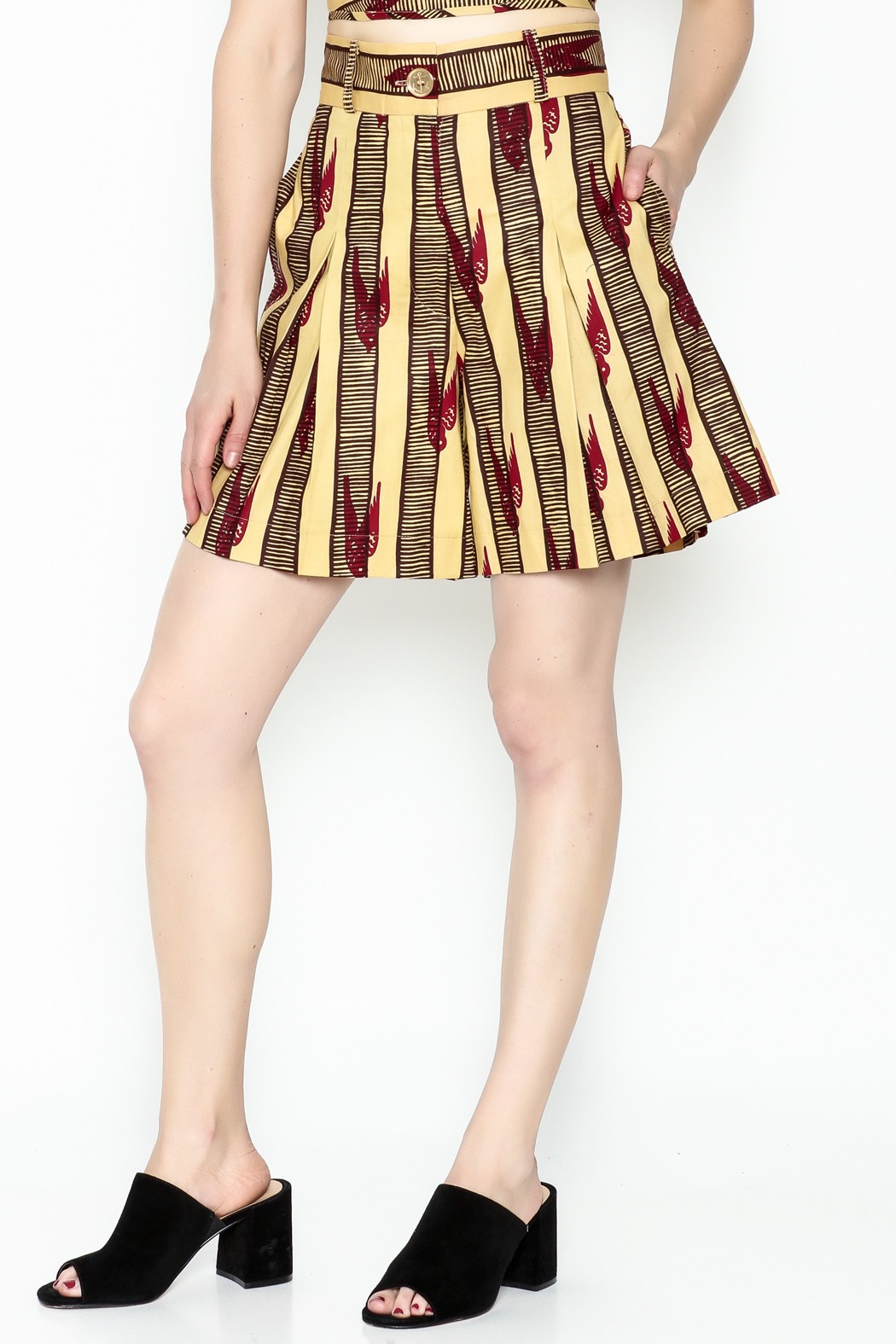 Royal Jelly Harlem Pleated Shorts - Main Image