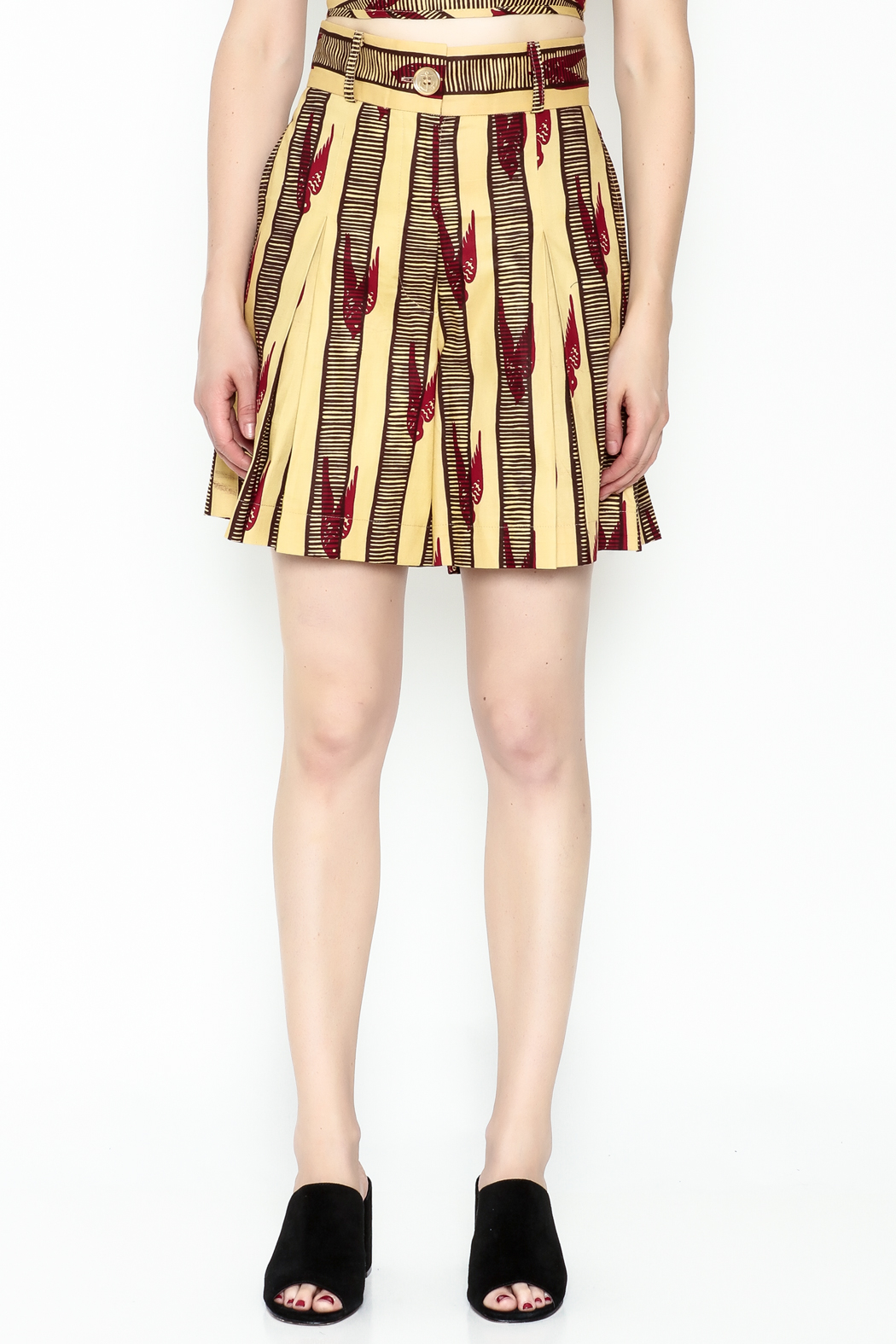 Royal Jelly Harlem Pleated Shorts - Front Full Image