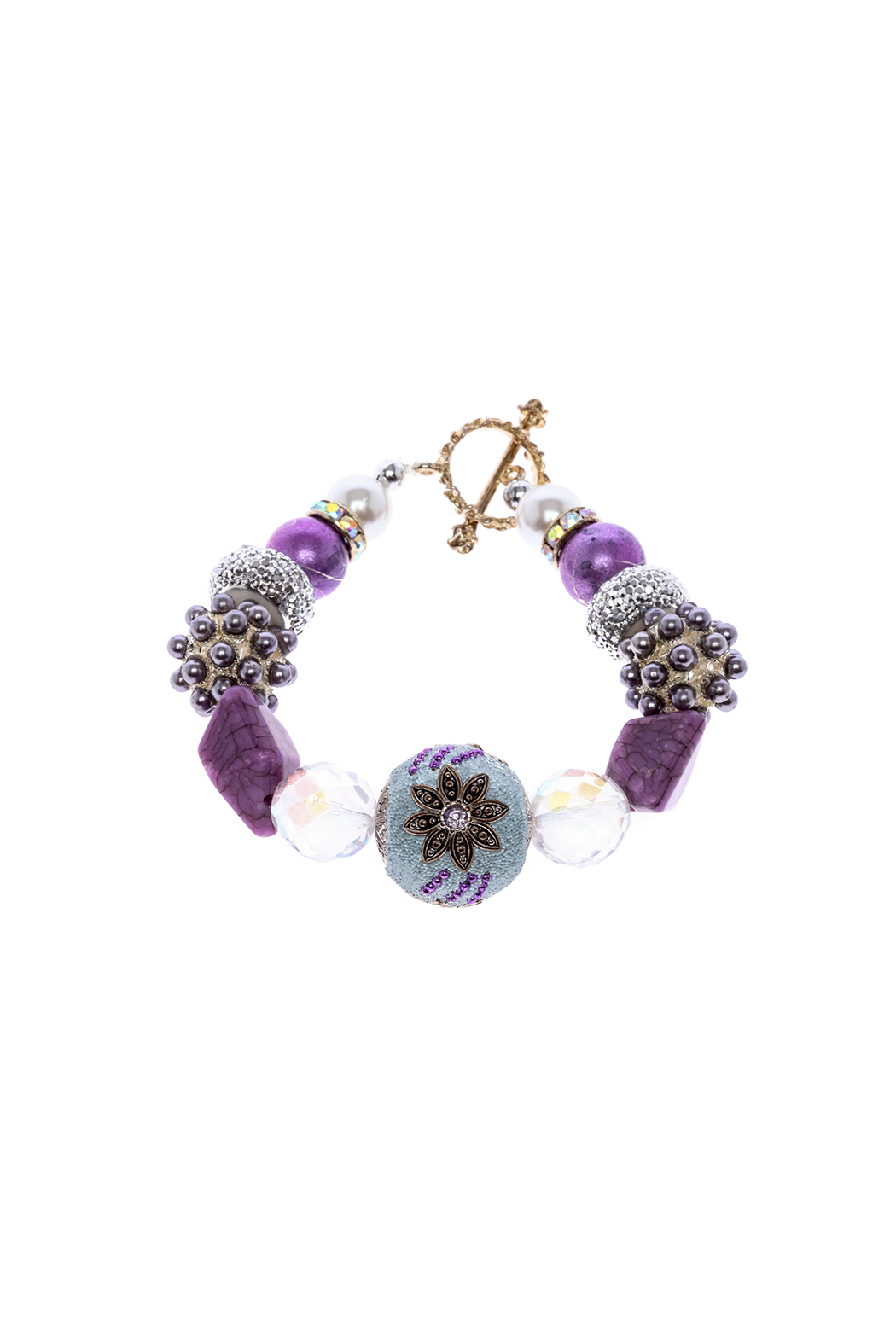 Royal Oak Dress Handmade Purple Bracelet - Main Image