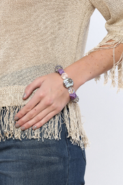 Royal Oak Dress Handmade Purple Bracelet - Back cropped