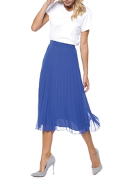 Dex Royal Pleated Skirt - Front cropped