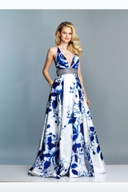 Dave and Johnny Royal Printed Gown - Product Mini Image