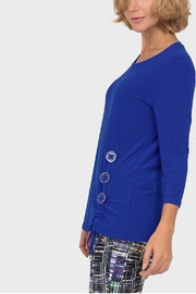 Joseph Ribkoff Royal Ruched Tunic - Front full body