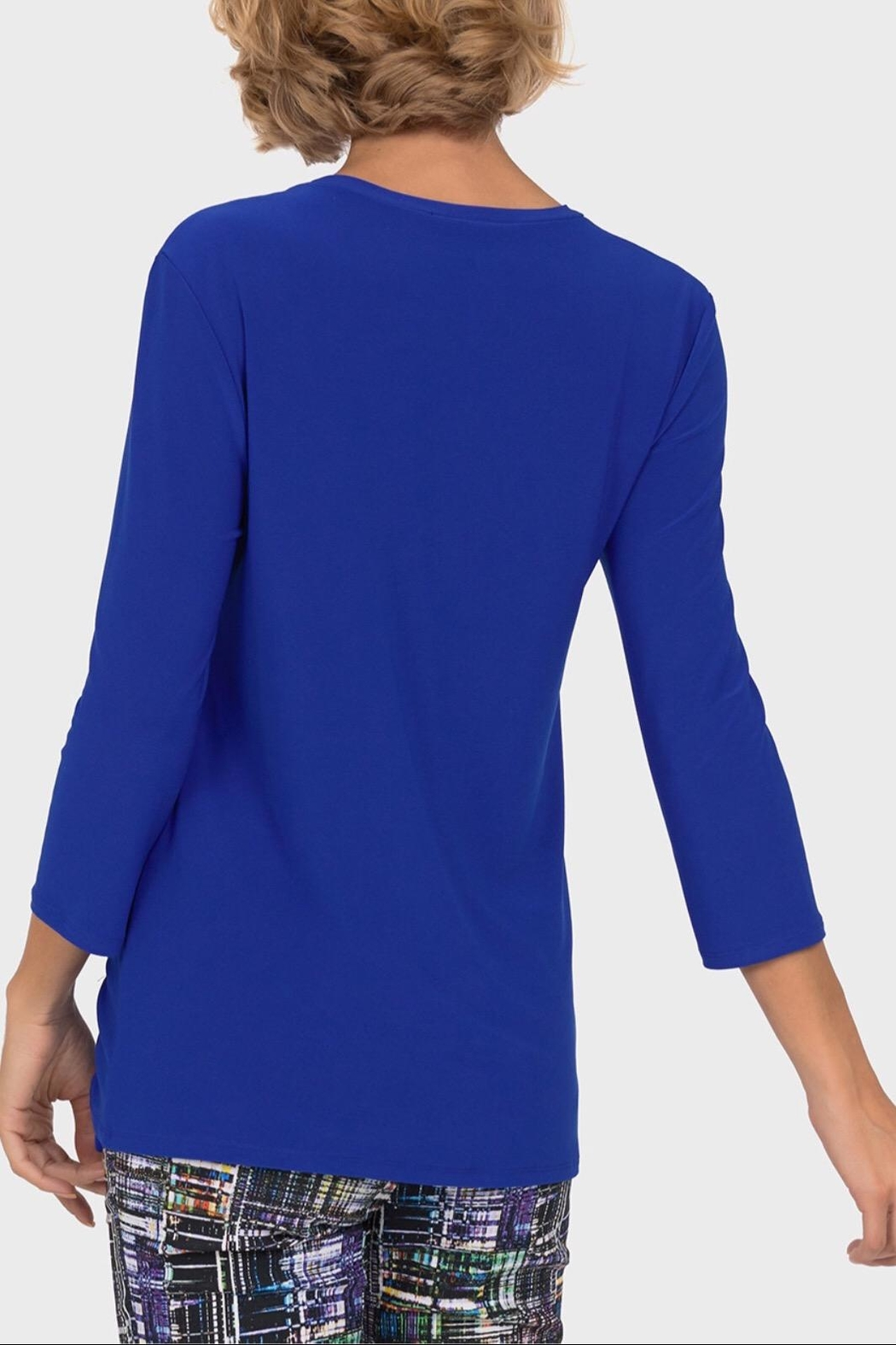 Joseph Ribkoff Royal Ruched Tunic - Side Cropped Image