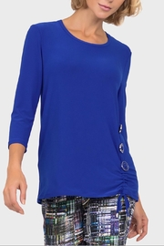 Joseph Ribkoff Royal Ruched Tunic - Front cropped